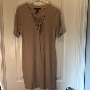Forever 21 Nude tie dress